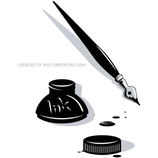 Ink Pen Vector Clip Art