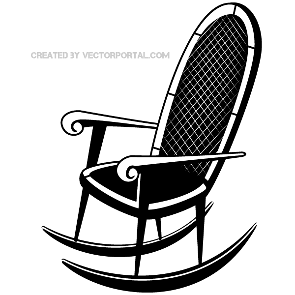 rocking chair vector clip art image 123freevectors. Black Bedroom Furniture Sets. Home Design Ideas