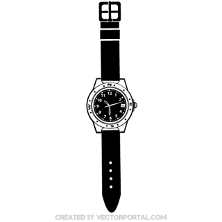 Wrist Watch Vector Illustration