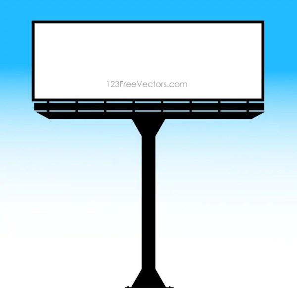Blank Billboard Vector Template