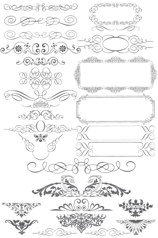 Free Vector Ornaments Calligraphic Elements