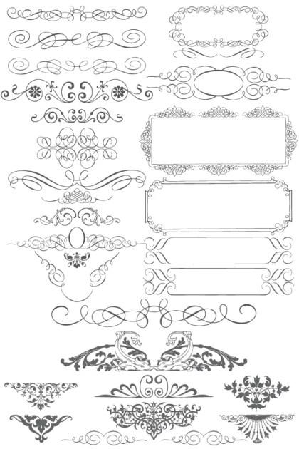 Free Vector Ornaments Calligraphic Elements