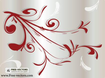 Decorative Flourishes Ornaments Vector