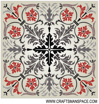 Square Marquetry Pattern Free Vector