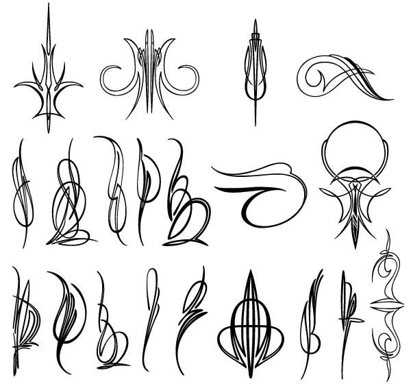 Vector Pinstripe Designs