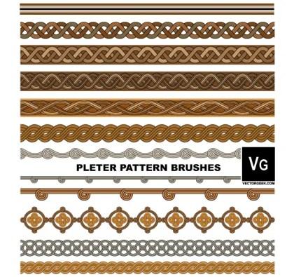 Pleter Pattern Brushes Illustrator