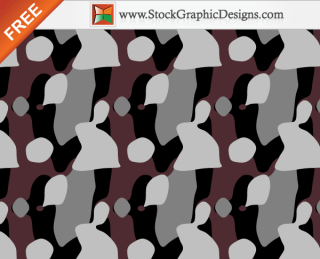 Free Seamless Camouflage Pattern Background Vector – 4 Colours