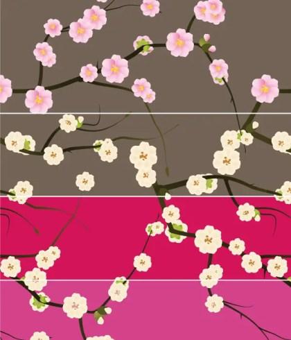 Spring Blossom Floral Seamless Pattern Illustrator