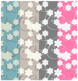 Paper Flowers Patterns Swatches – Free Photoshop and Illustrator Patterns