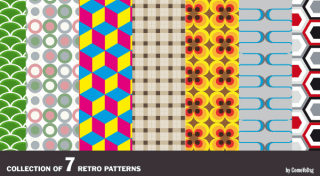 Retro Cool Vector Pattern Pack Free