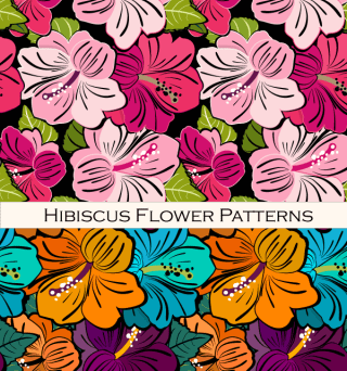 Free Hibiscus Flower Pattern Vector