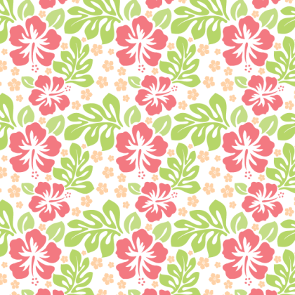 Free Flower Seamless Pattern Vector