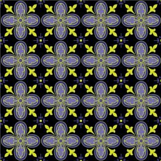 Free Ornate Tiles Seamless Pattern Vector Illustrator