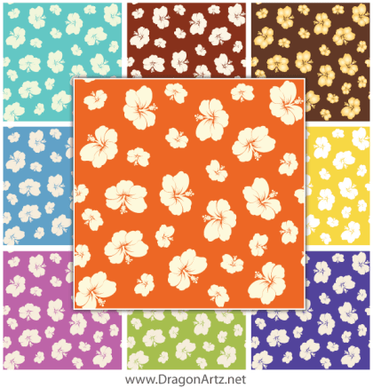 Free Summer Flower Seamless Pattern Vector