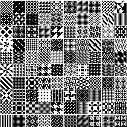 Monochrome Geometric Patterns Vector Free