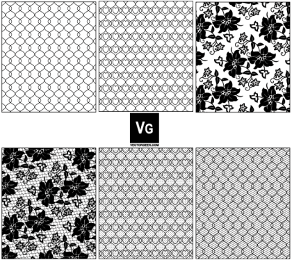 Lace and Mesh Vector Pattern Swatches