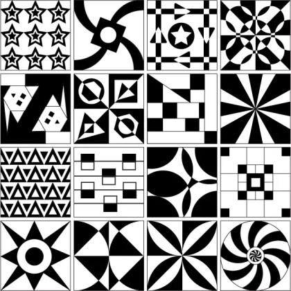 Tile Design Patterns Vector Free