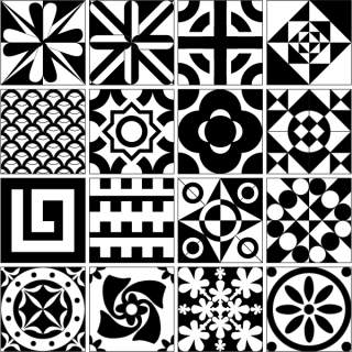 Tile Design Patterns Free Vector Resource