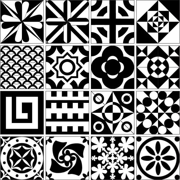 Tile Design Patterns Free Vector Resource