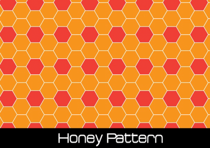 Vector Honey Seamless Pattern Free