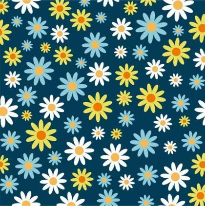 Daisy Pattern Vector Background