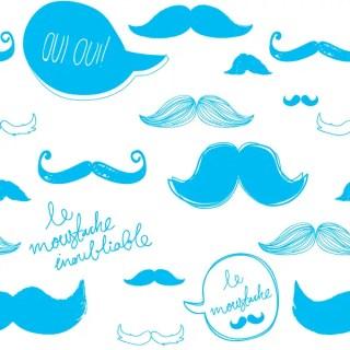 Mustache Seamless Pattern Vector Free