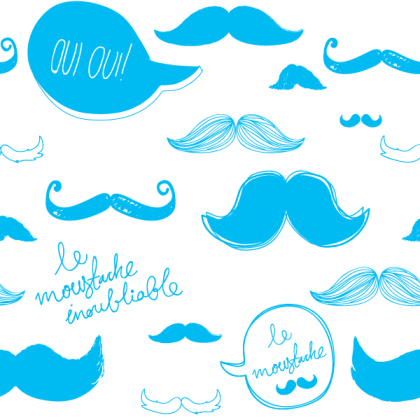 Mustache Seamless Pattern Vector Free