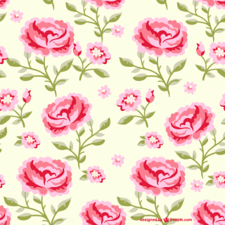 Seamless Rose Flowers Pattern Illustrator