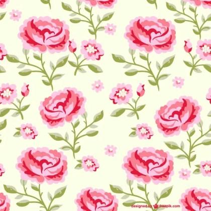 Seamless Rose Flowers Pattern Illustrator