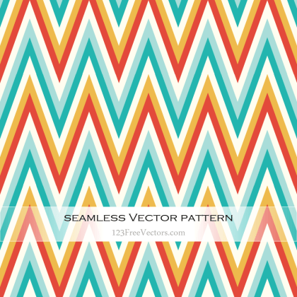 Colorful Chevron Pattern Illustrator