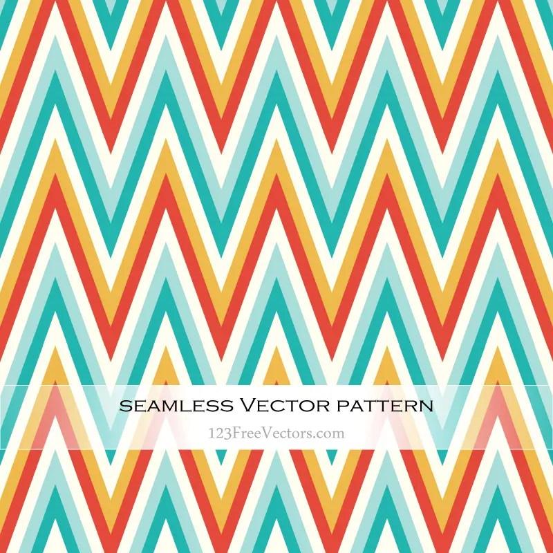 Colorful Chevron Pattern Illustrator