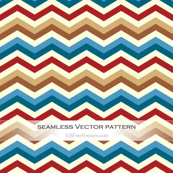 Retro Zigzag Pattern Background Vector