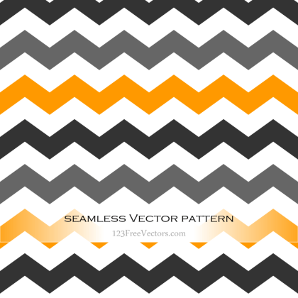 Black and Orange Seamless Chevron Background Pattern