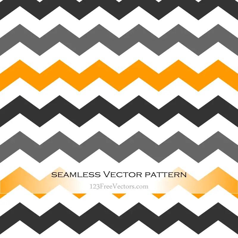Black and Orange Seamless Chevron Background Pattern