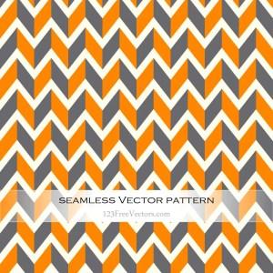 Orange and Grey Seamless Chevron Background Pattern