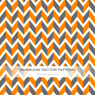 Orange and Grey Seamless Chevron Background Pattern