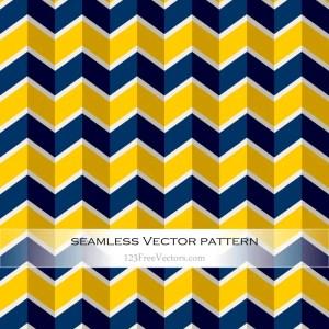 Navy Blue and Yellow Seamless Zigzag Pattern