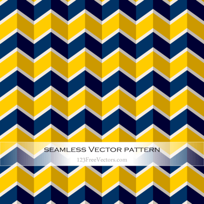 Navy Blue and Yellow Seamless Zigzag Pattern