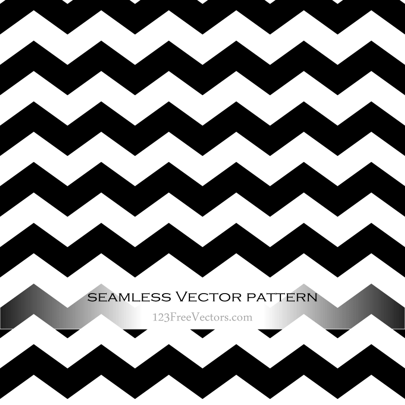 Black and White Zig Zag Background