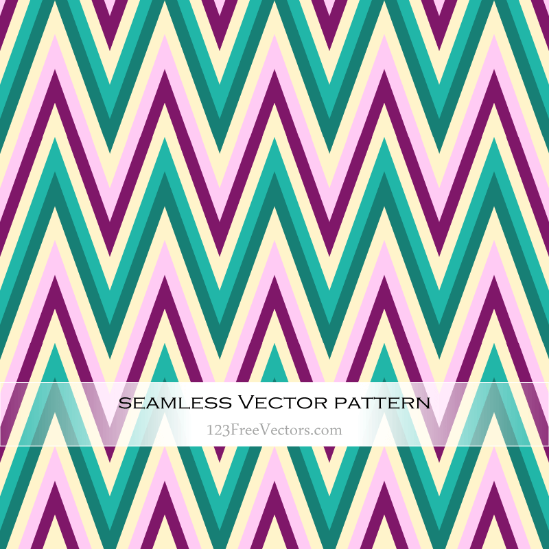 Seamless Zigzag Pattern Vector Background