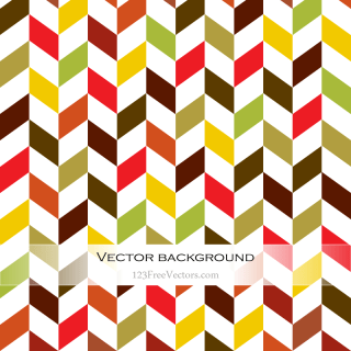 Colorful Chevron Background Illustration