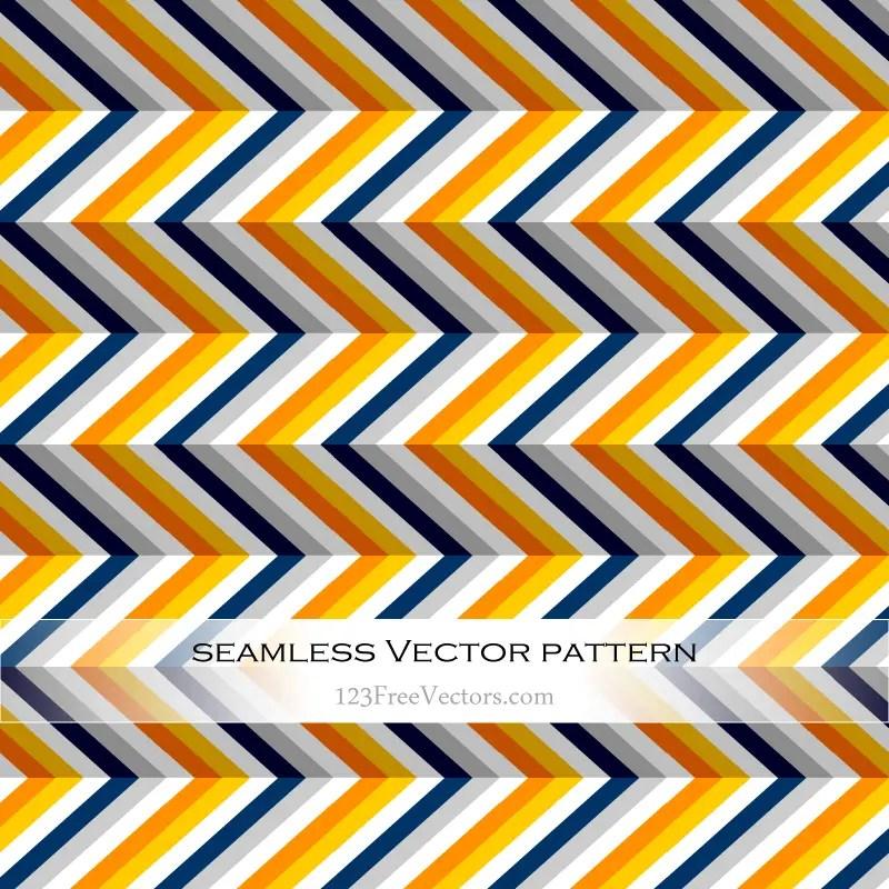 Orange, Grey, Navy and Yellow Chevron Pattern Background
