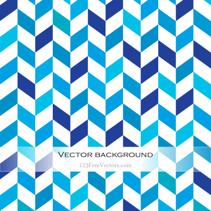 Blue and White Chevron Background