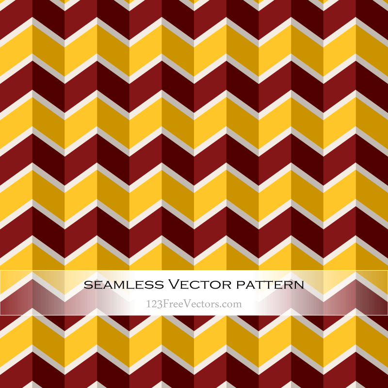 Red and Yellow Chevron Abstract Background