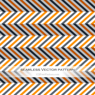 Orange and Grey Seamless Chevron Pattern