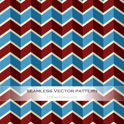 Vintage Colorful Chevron Pattern Vector