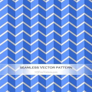 Chevron Blue Seamless Zigzag Pattern Vector