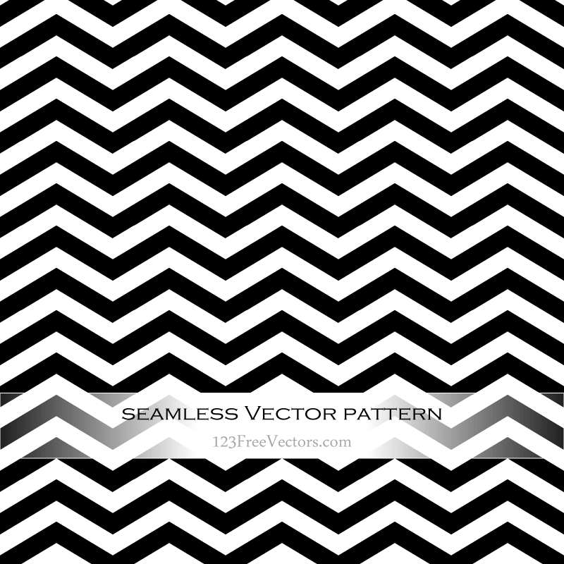 Black and White Zigzag Pattern Vector