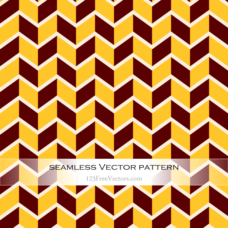 Red Yellow Seamless Zigzag Pattern Vector