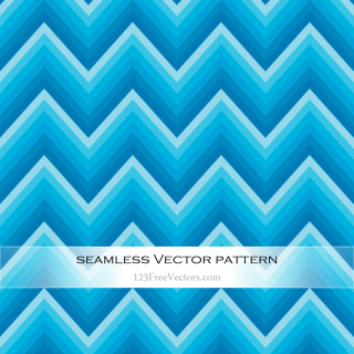 Blue Chevron Seamless Pattern Vector